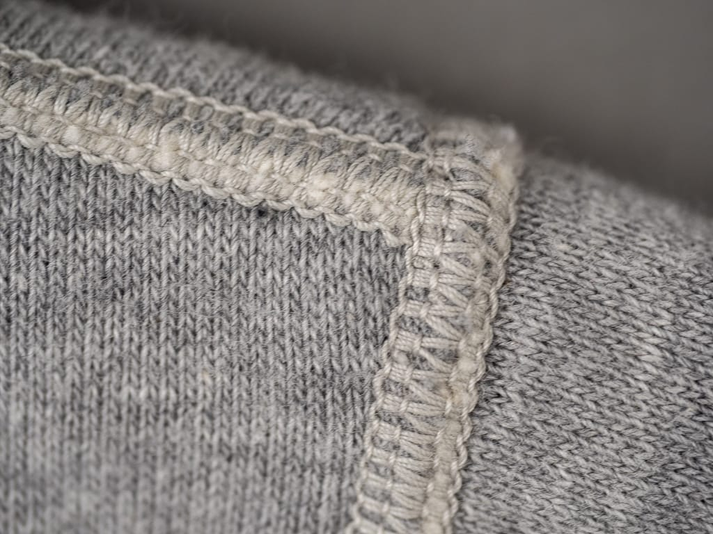 The Strike Gold Loopwheeled Sweatshirt Gray seams detail