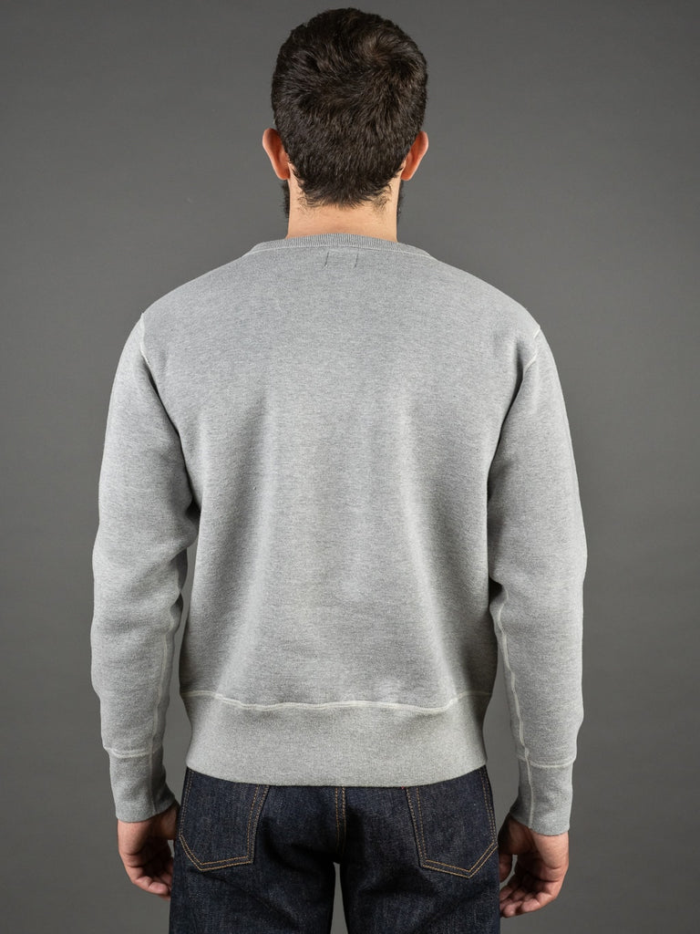 The Strike Gold Loopwheeled Sweatshirt Gray back