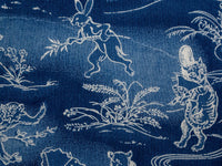 Studio D´Artisan 40th Anniversary Indigo Aloha Shirt manga paints