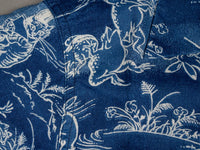 Studio D´Artisan 40th Anniversary Indigo Aloha Shirt luxury fabric