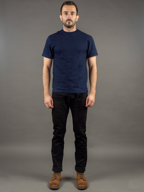 Tanuki BKHT Black Denim High Tapered Jeans