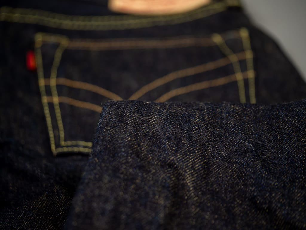 The Strike Gold 2109 Brown Weft Jeans indigo cotton