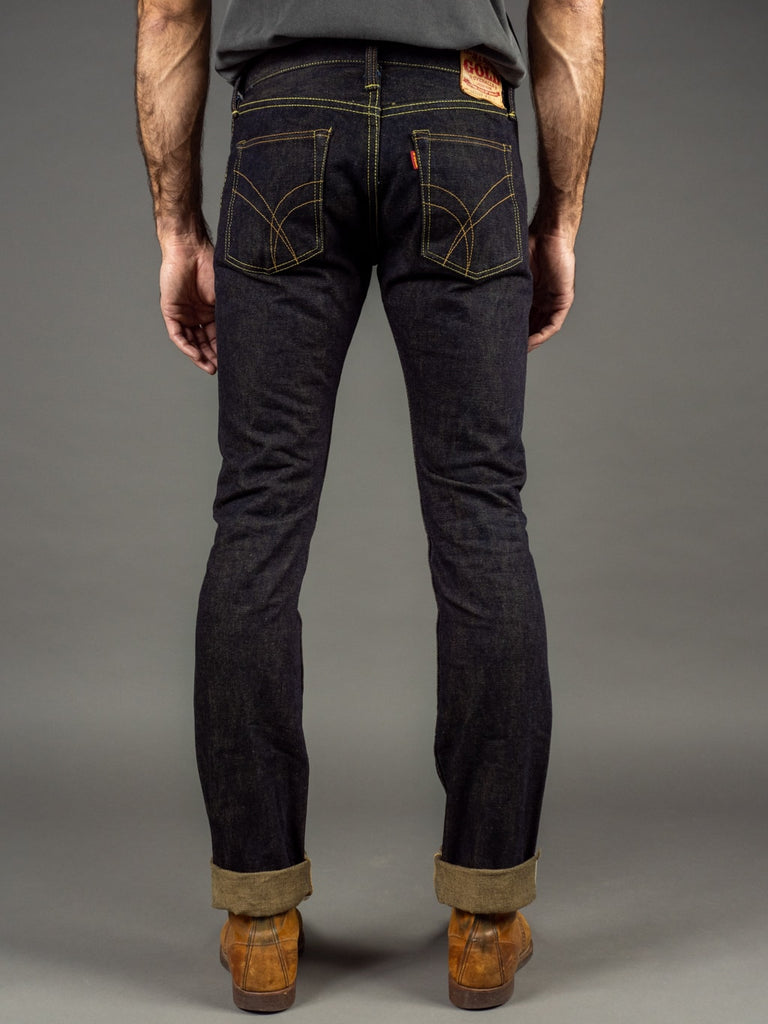The Strike Gold 2109 Brown Weft Slim Tapered Jeans back