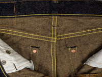 The Strike Gold 2109 Brown Weft Jeans interior
