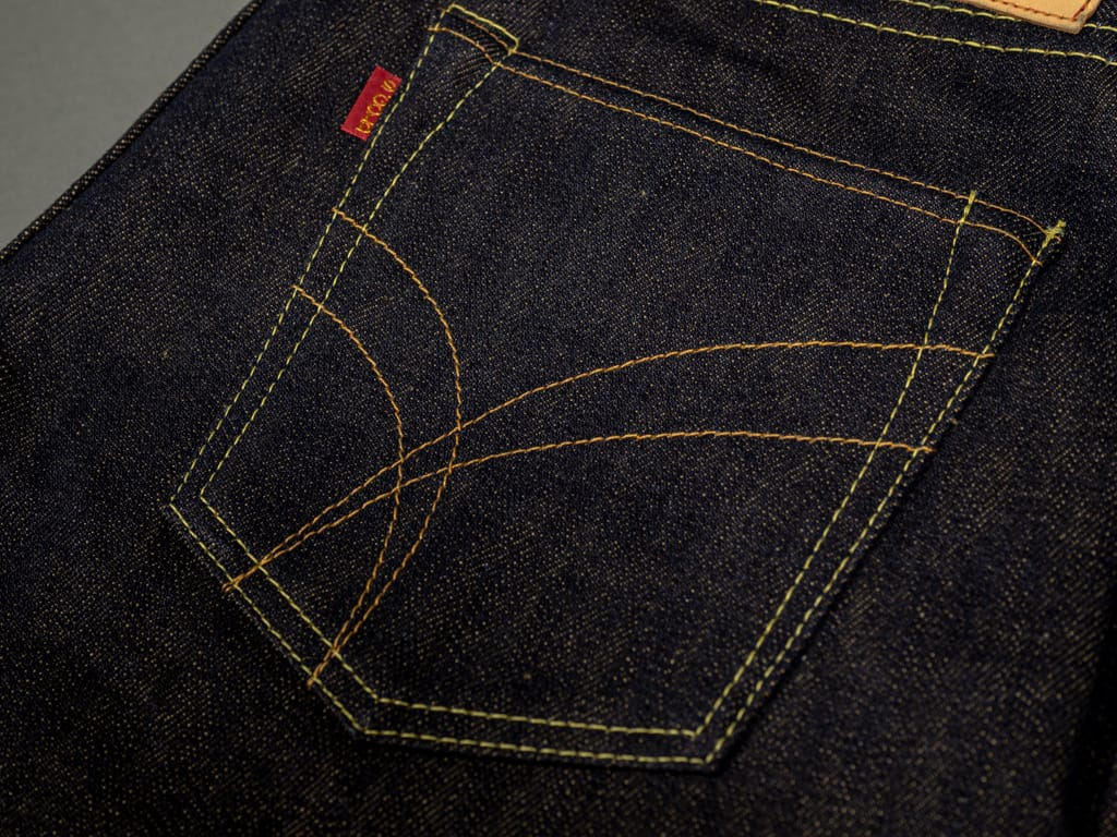 The Strike Gold 2109 Brown Weft Jeans pocket