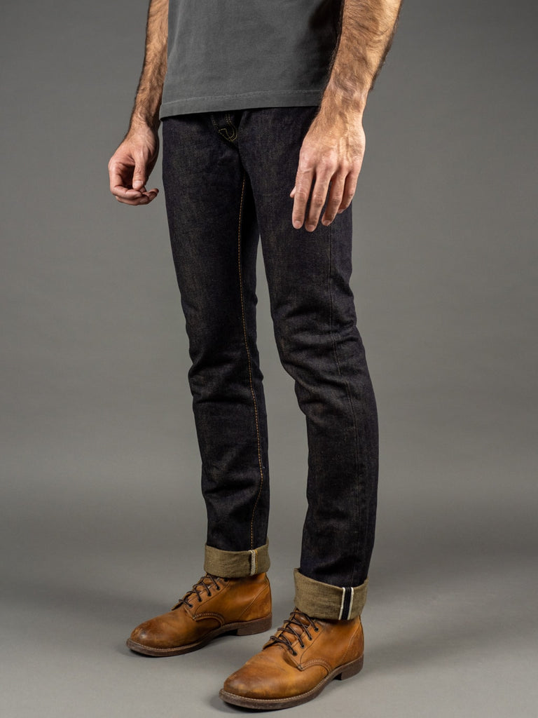 The Strike Gold 2109 Brown Weft Slim Tapered Jeans side