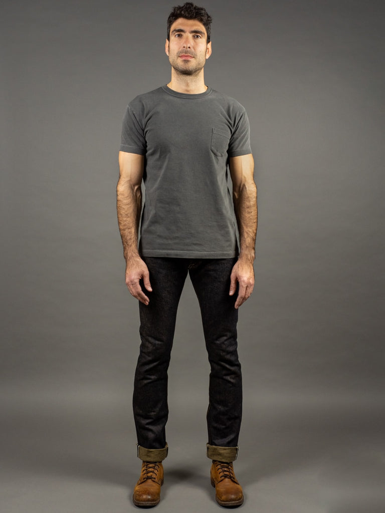 The Strike Gold 2109 Brown Weft Slim Tapered Jeans