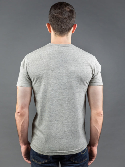UES Ramayana Crew Neck Pocket T-Shirt grey suvin gold back