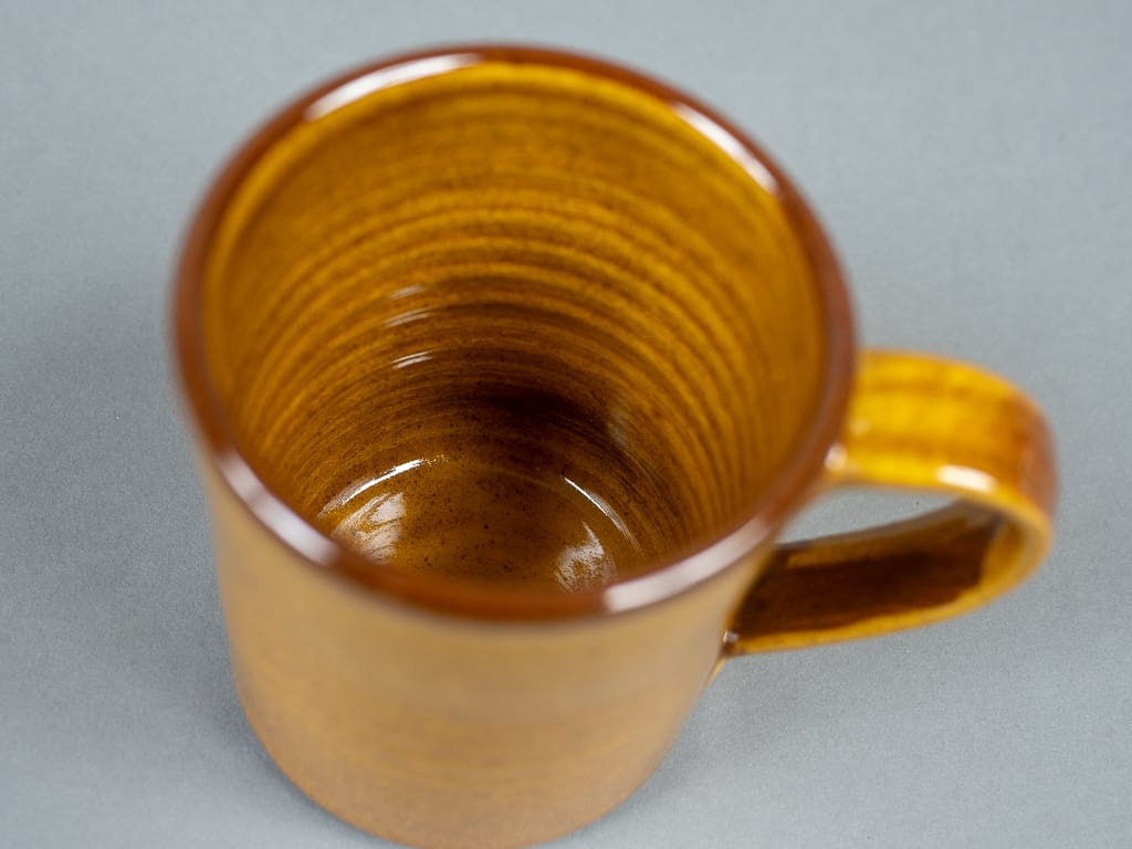 Tender Coffee Mug Amber Glazed handmade