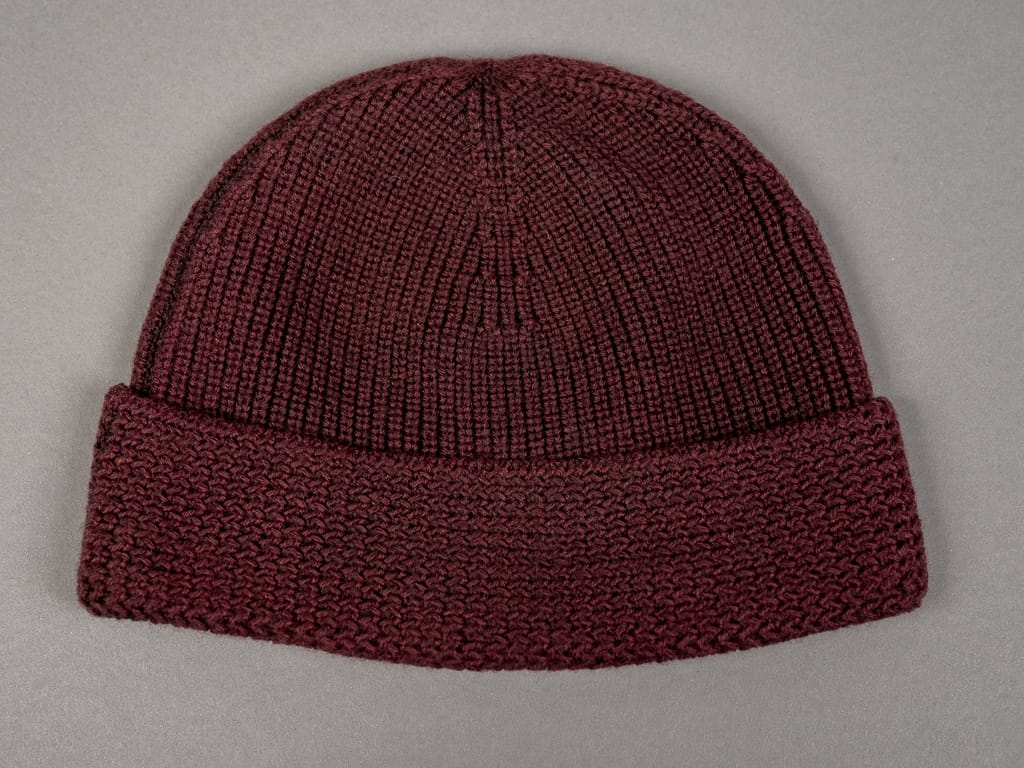 Stevenson Overall wool Knit Cap Burgundy US Navy