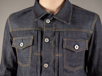 companion cone denim type 3 raw selvedge jacket chest pockets