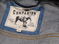 companion cone denim type 3 raw selvedge jacket label