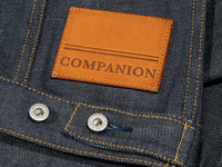 companion cone denim type 3 raw selvedge jacket waist straps