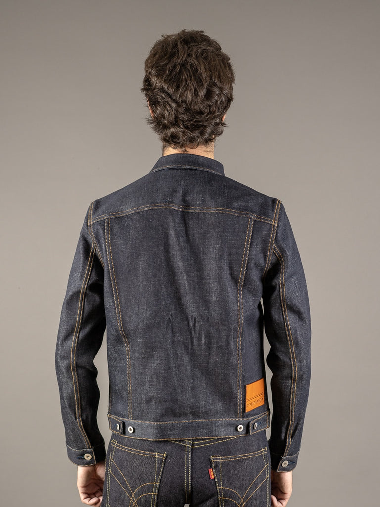 companion cone denim type 3 raw selvedge jacket back