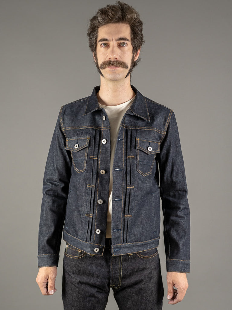 companion cone denim type 3 raw selvedge jacket front