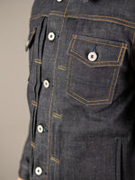 companion cone denim type 3 raw selvedge jacket silver buttons