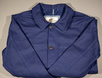 companion denim blouson bleu herringbone french style workwear jacket