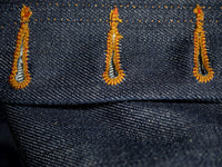 companion denim joel 01c cone denim raw selvedge jeans button holes