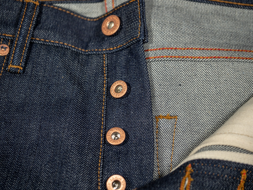 companion denim joel 01c cone denim selvedge jeans copper buttons