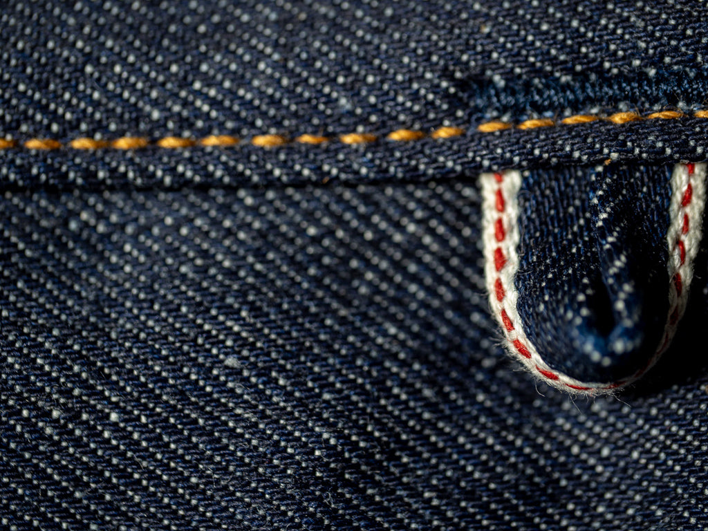 companion denim joel 01c cone denim raw jeans selvedge hanger