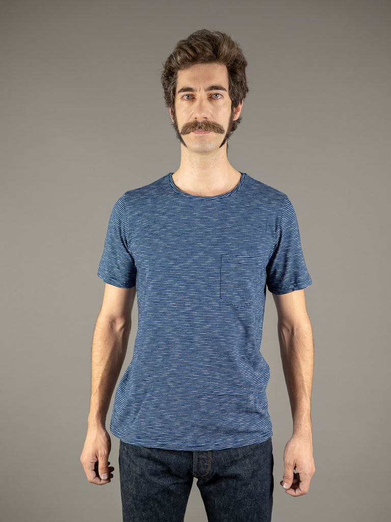 Companion Striped Indigo T-shirt Light