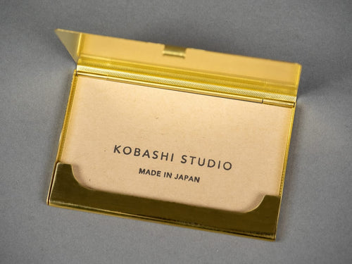 Kobashi Studio Card Case brass interior