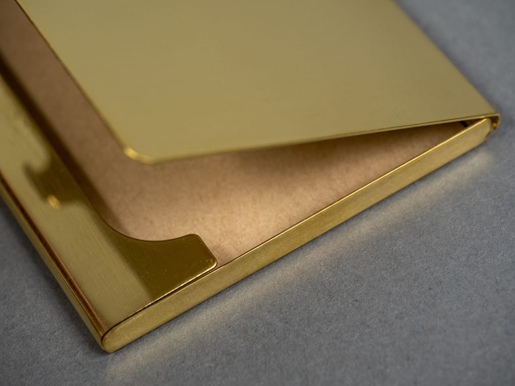 Kobashi Studio Card Case solid brass