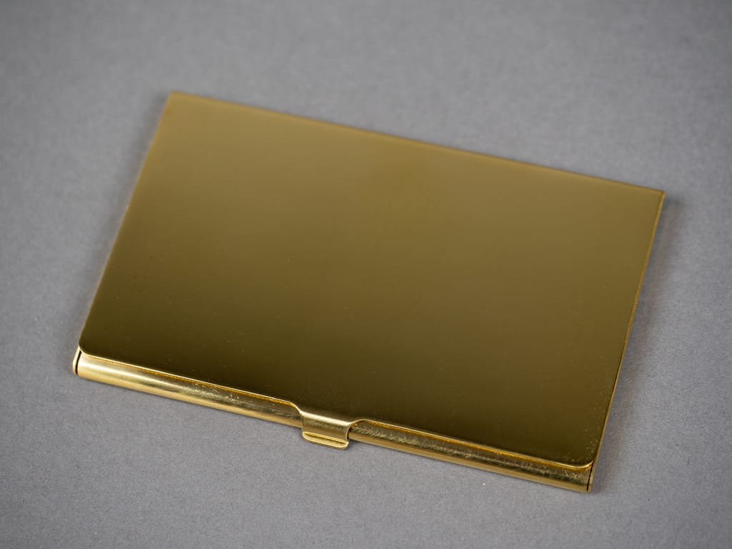 Kobashi Studio Card Case brass