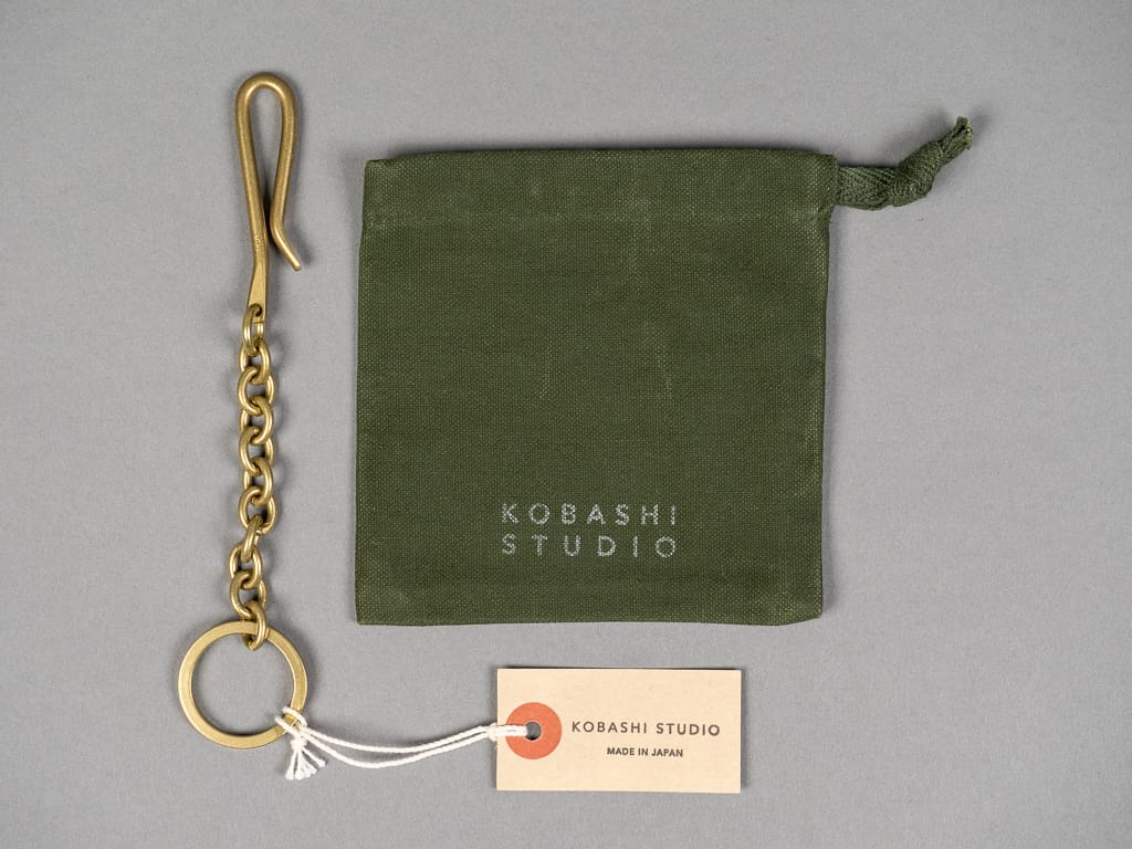 Kobashi Studio Key Clip Chain handmade canvas bag