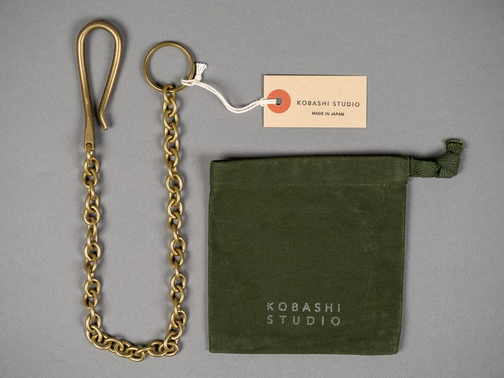Kobashi Studio Key Chain Oval brass canvas bag