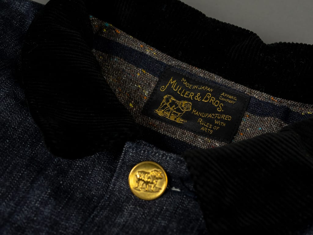 corduroy collar of Muller & Bros. Bully coverall work Jacket