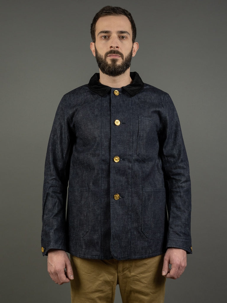 Muller & Bros. Bully coverall work denim Jacket front