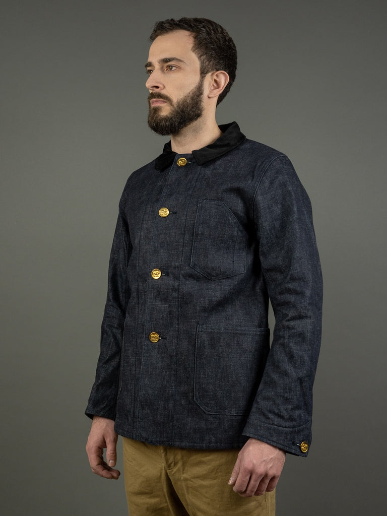 Muller & Bros. Bully coverall work denim Jacket front side