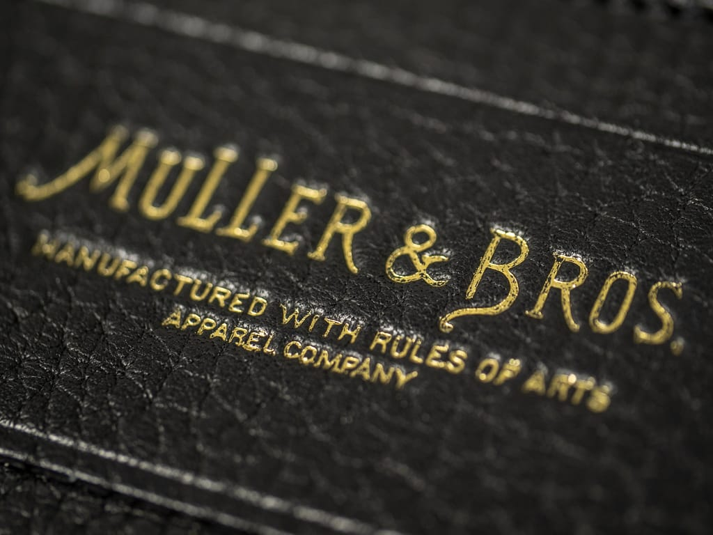 Muller & Bros. italian black leather Card Holder front