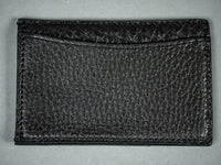 Muller & Bros. italian black leather Card Holder back pocket
