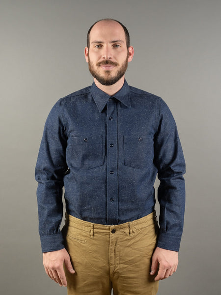 Muller & Bros. Garage Shirt Denim front