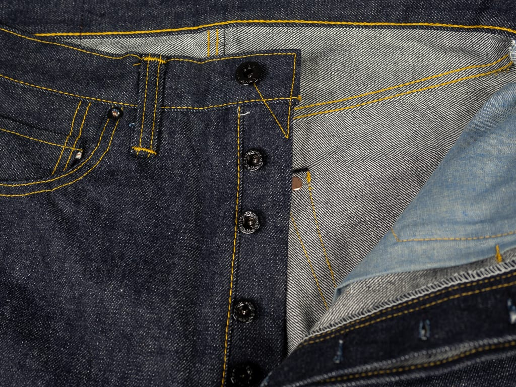muller & bros. 542XX selvedge japanese denim jeans interior