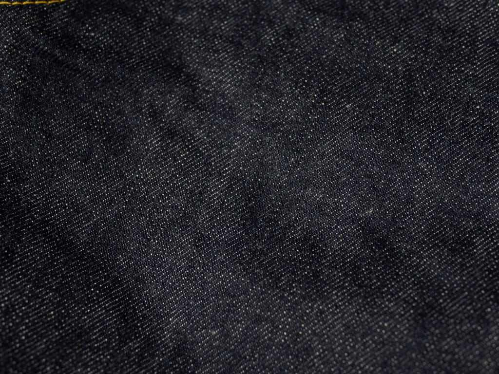 fabric of gold selvedge of muller & bros. 542XX selvedge japanese denim jeans