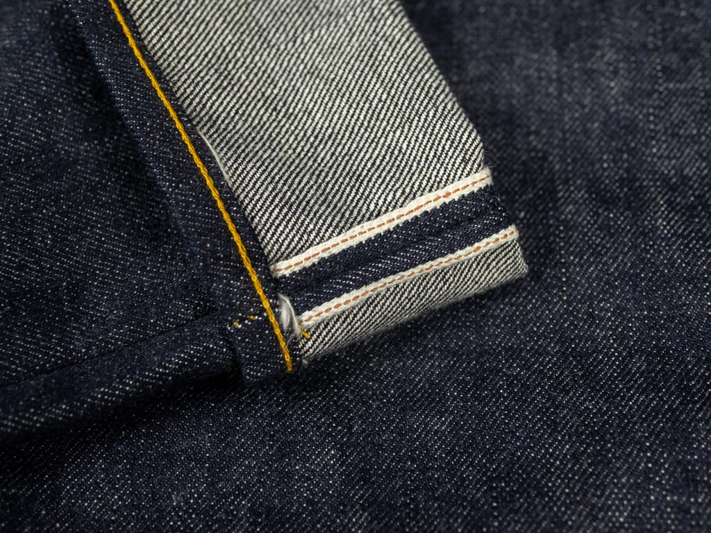 gold selvedge of muller & bros. 542XX selvedge japanese denim jeans
