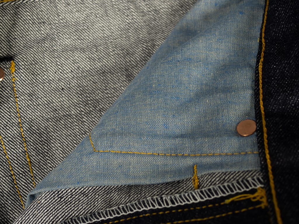 muller & bros. 542XX selvedge japanese denim jeans interior pocket