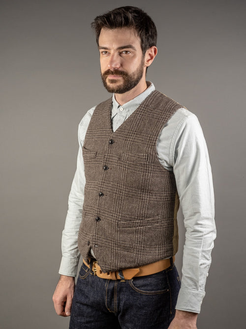 Muller & Bros. brown tweed wool vest