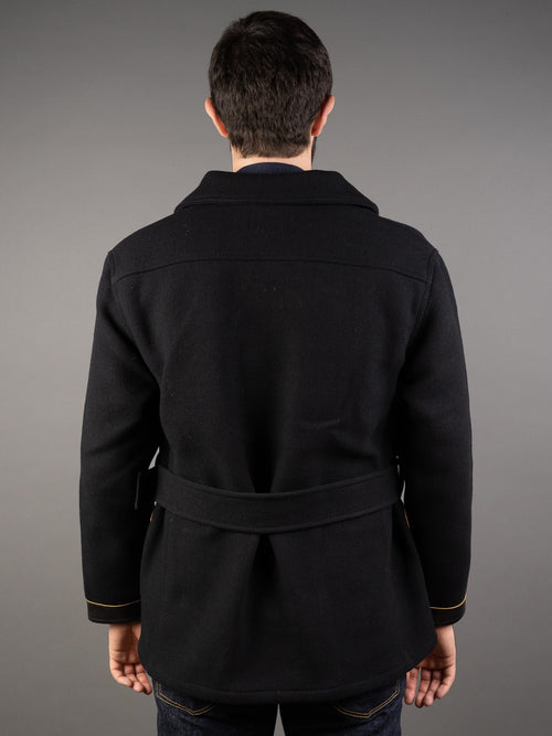 muller and bros rail road wool mackinaw coat back