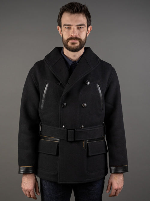 muller and bros rail road wool mackinaw coat front