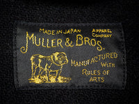muller and bros rail road wool mackinaw shawl coat label