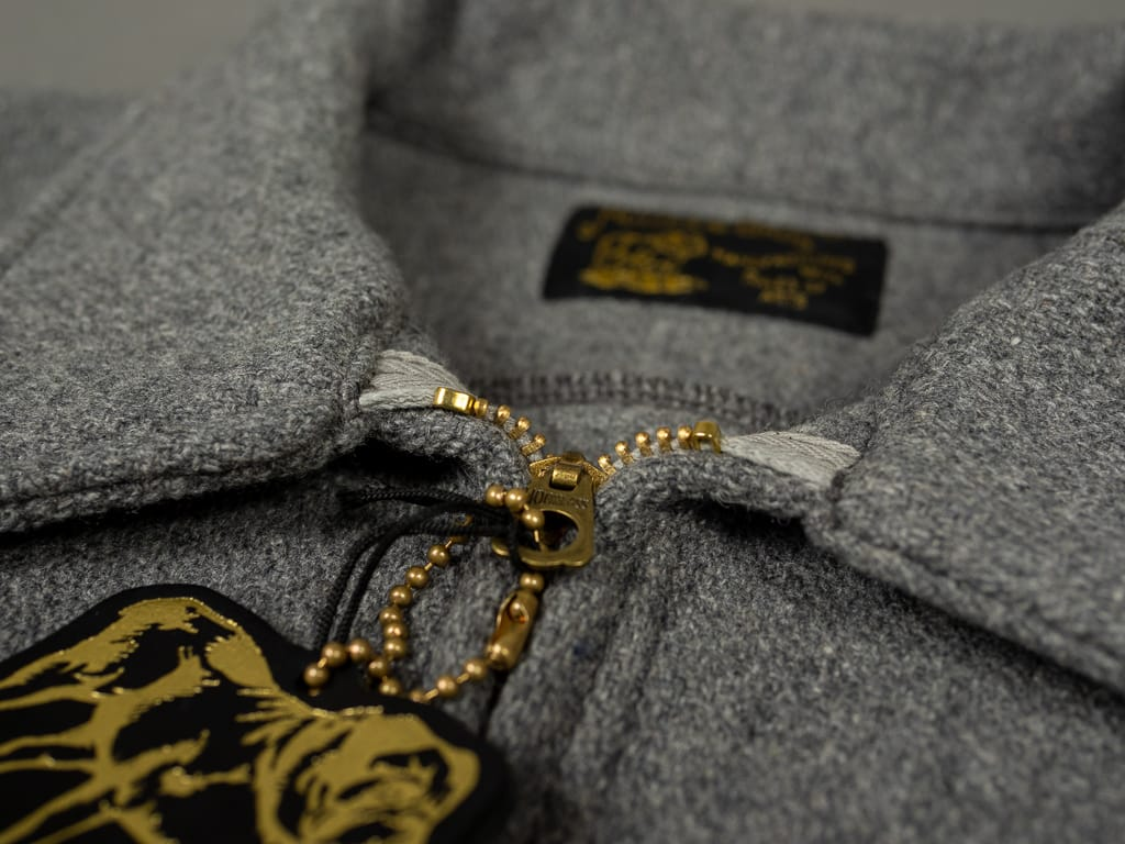 brass zipper of Muller & Bros. Sports american work Jacket