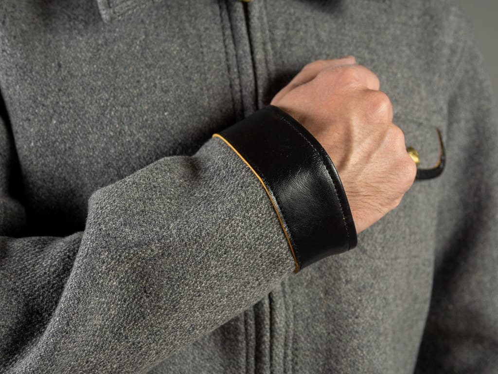 leather cuffs of Muller & Bros. Sports work Jacket