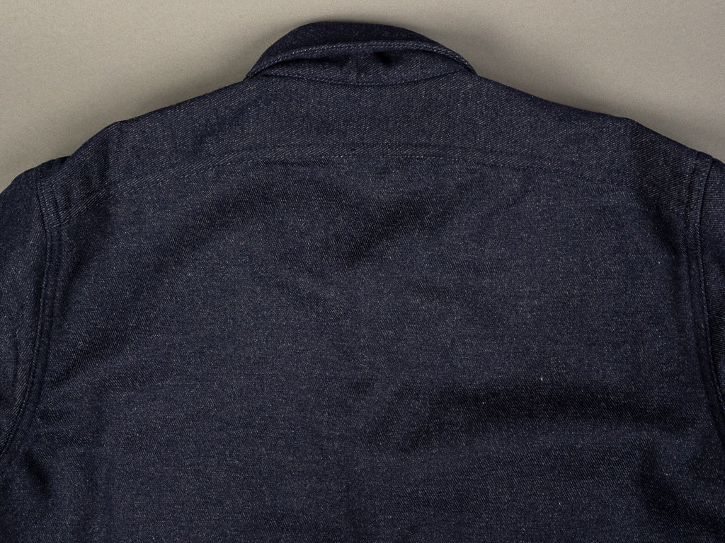 muller and bros wool syndicate work shirt back yoke