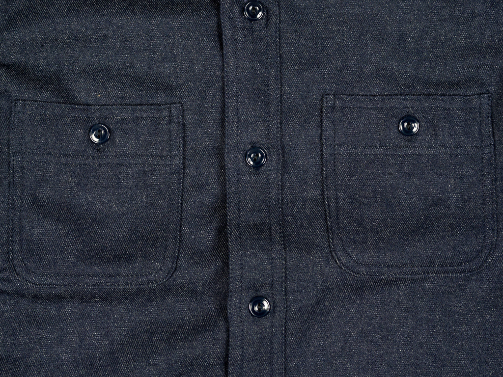 muller and bros wool syndicate work shirt chest pockets