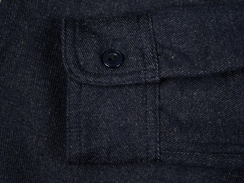muller and bros wool syndicate work shirt cuff