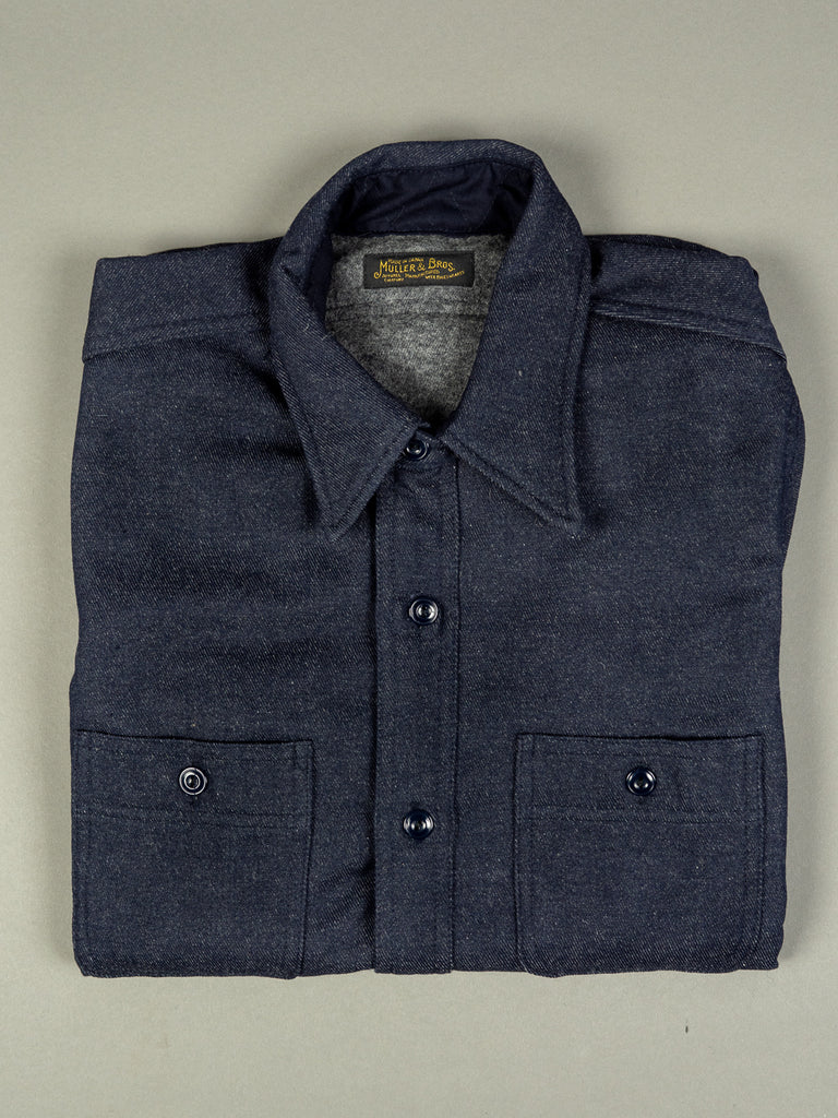 muller and bros wool syndicate work japanese shirt folded